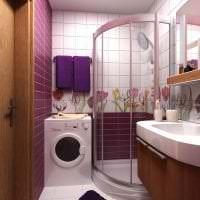 необычный декор ванной комнаты с душем в темных тонах картинка