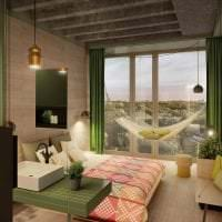 яркий эко дизайн комнаты картинка