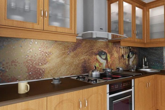 кухонный фартук из кафеля фото первом фото