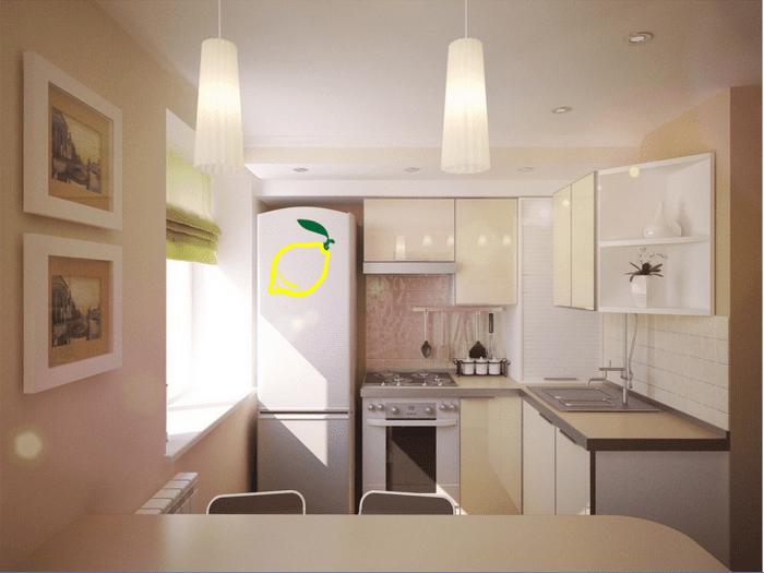 Бежевый интерьер кухни - 75 оригинальных идей