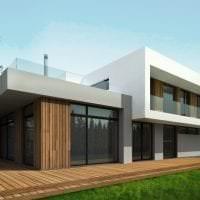 красивый дизайн дачи в архитектурном стиле фото