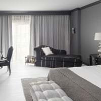 яркий дизайн спальни в белых тонах картинка