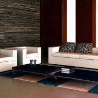 красивый дизайн гостиной в стиле хай тек фото