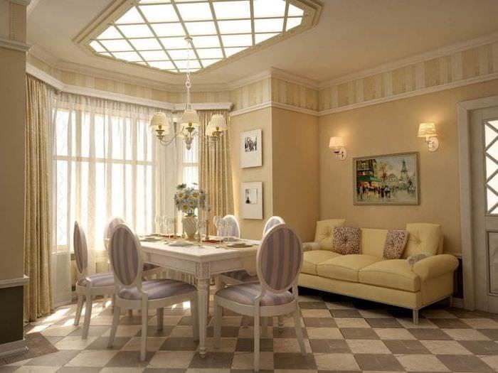 яркий интерьер коридора в французском стиле