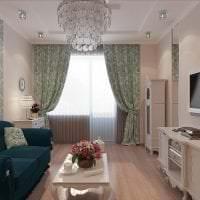 светлый интерьер кухни в бирюзовом цвете картинка