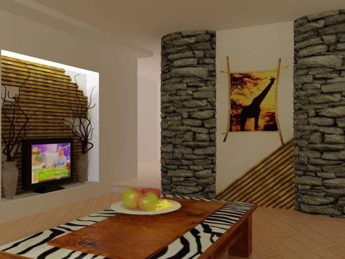 красивый дизайн спальни в африканском стиле