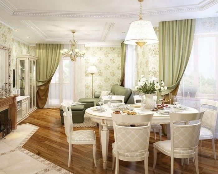 яркий дизайн квартиры в французском стиле