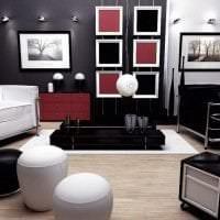 светлый дизайн гостинной в различных цветах картинка
