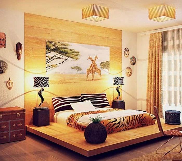 яркий декор прихожей в африканском стиле