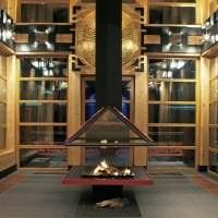 светлый интерьере коридора в японском стиле фото
