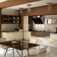светлый интерьер квартиры в цвете кофе с молоком фото