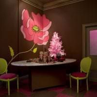 красивый декор кухни в шоколадном цвете фото