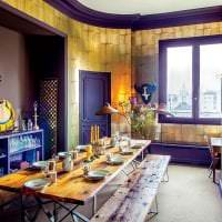 яркий декор гостиной в стиле эклектика фото