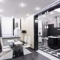 стильный дизайн коридора в стиле хай тек фото