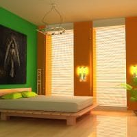 яркий терракотовый цвет в интерьере ванной картинка