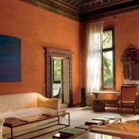 светлый терракотовый цвет в дизайне коридора картинка