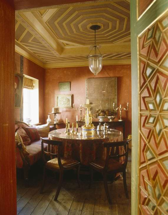 приятный терракотовый цвет в дизайне кухни