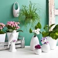 красивый весенний декор в стиле коридора фото