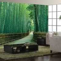 мебель с бамбуком в дизайне комнаты картинка