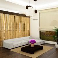 потолок с бамбуком в интерьере коридора картинка
