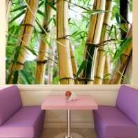 паркет с бамбуком в дизайне спальни фото