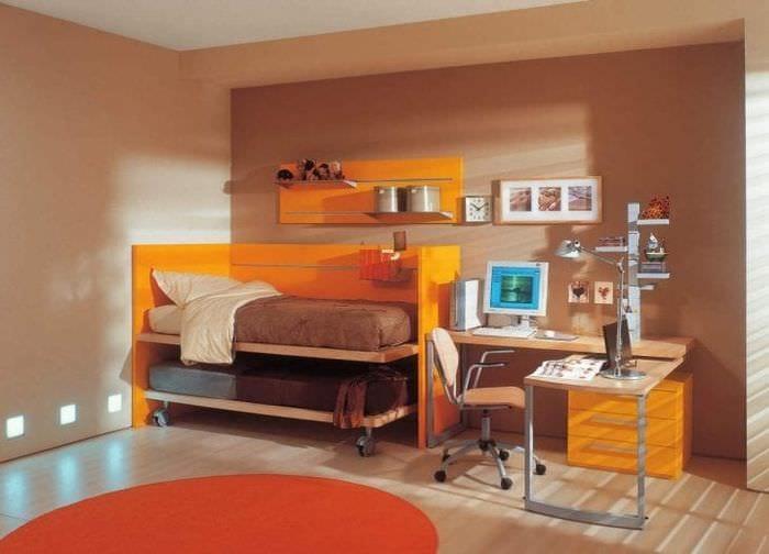 коричневый цвет в интерьере квартиры