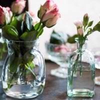 искусственные цветы в стиле кухни фото