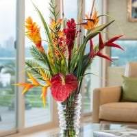 живые цветы в стиле квартиры фото