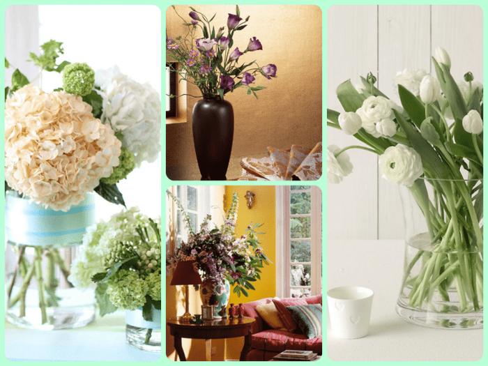живые цветы в декоре спальни