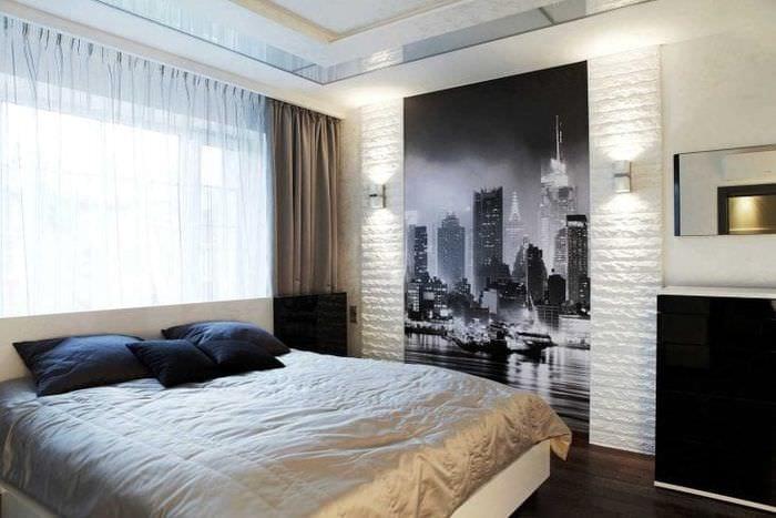 белые стены в декоре спальни в стиле скандинавия