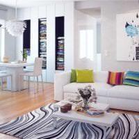 белые стены в интерьере гостиной в стиле скандинавия фото