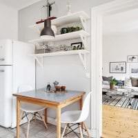 белые стены в дизайне дома в стиле скандинавия картинка
