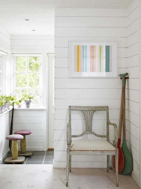 белые стены в стиле квартиры в стиле скандинавия