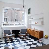 белые стены в интерьере коридора в стиле минимализм картинка