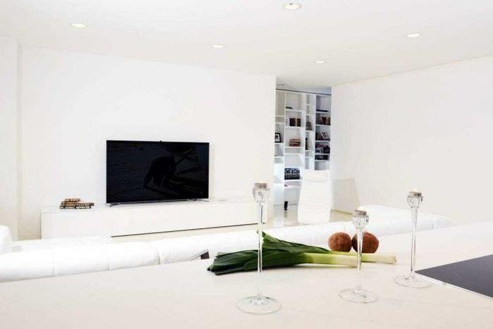 белые стены в дизайне дома в стиле минимализм