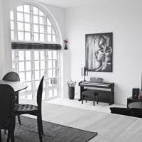 белые стены в дизайне дома в стиле минимализм картинка