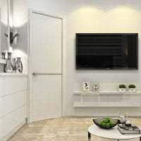 белые стены в декоре дома в стиле минимализм картинка