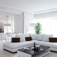 белые стены в дизайне спальни в стиле минимализм фото