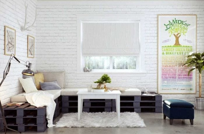 белые стены в интерьере дома в стиле скандинавия