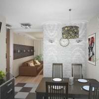 белые стены в стиле гостиной в стиле скандинавия картинка