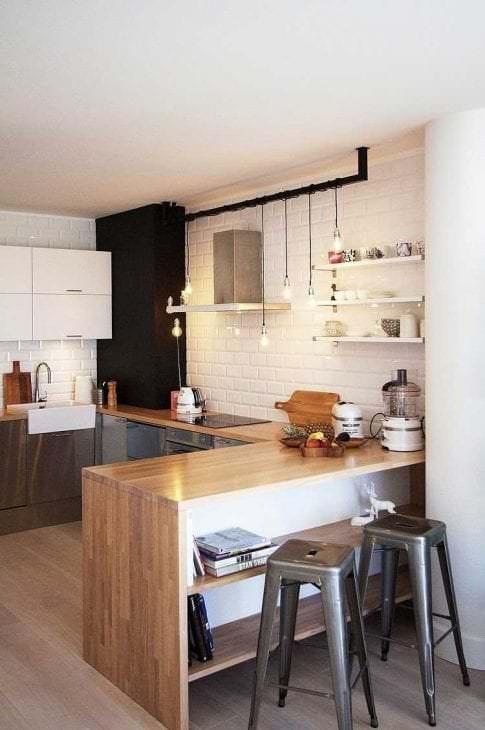 белые стены в дизайне квартиры в стиле скандинавия