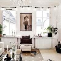 белые стены в декоре квартиры в стиле скандинавия фото
