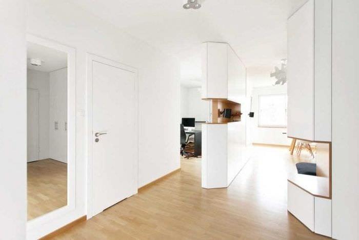 белые стены в декоре дома в стиле минимализм