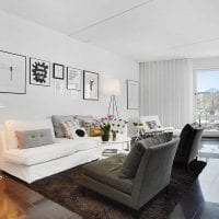 белые стены в стиле коридора в стиле скандинавия фото