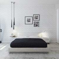белые стены в декоре гостиной в стиле скандинавия картинка