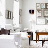 белые стены в стиле коридора в стиле минимализм фото