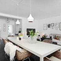 белые стены в интерьере гостиной в стиле скандинавия картинка