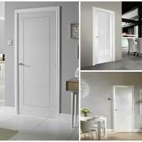 белые стены в дизайне кухни в стиле минимализм картинка