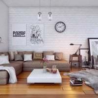 белые стены в стиле спальни в стиле скандинавия фото