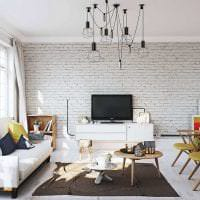 белые стены в дизайне коридора в стиле скандинавия картинка
